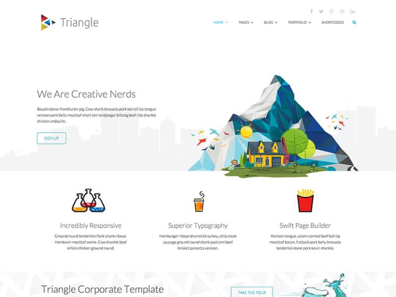Free Bootstrap Theme - Triangle