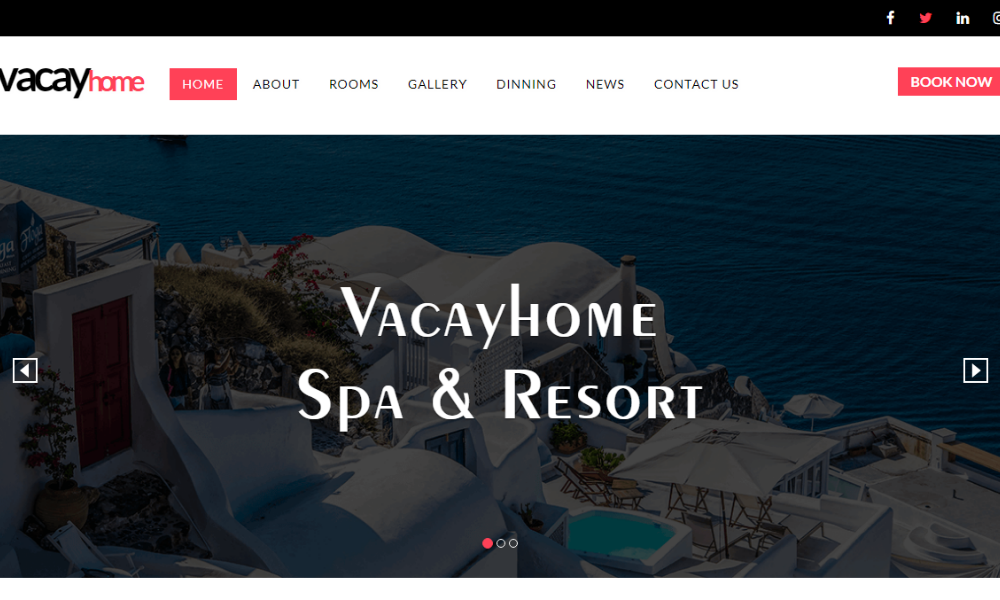 Vacay Home Free Bootstrap Theme