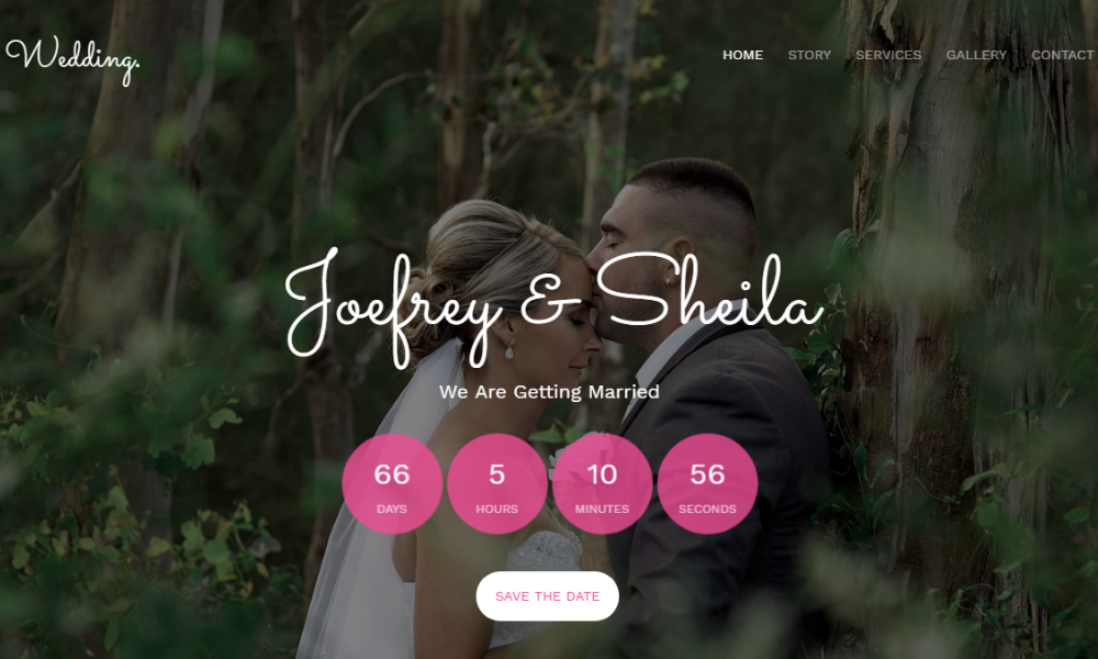 Free Bootstrap Theme - Wedding Master