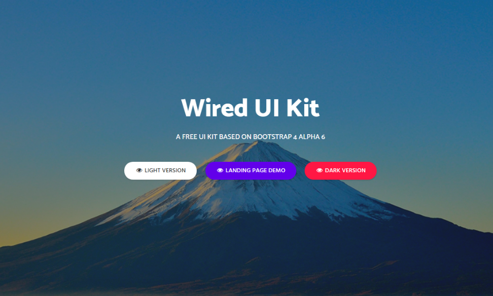 Wired UI Kit  Free Bootstrap Theme