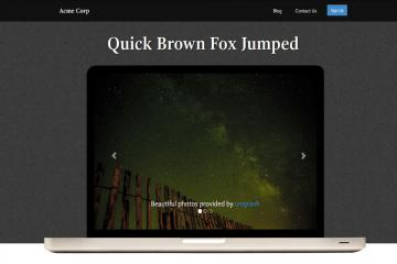laptop-bootstrap-theme